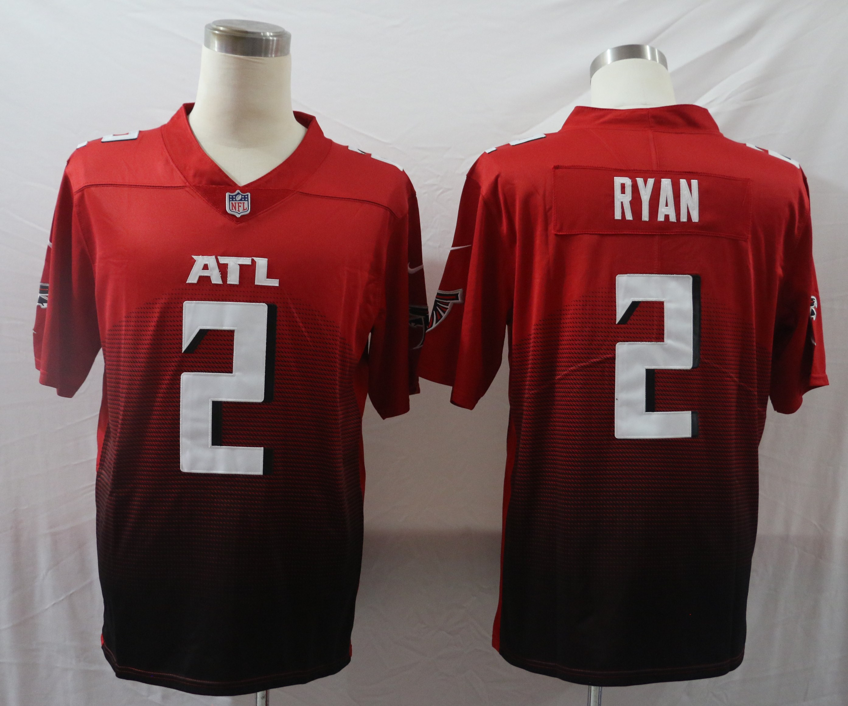 Nike Falcons 2 Matt Ryan Red New Vapor Untouchable Limited Jersey