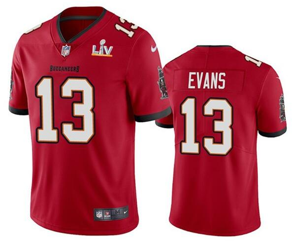 Nike Buccaneers 13 Mike Evans Red 2021 Super Bowl LV Vapor Untouchable Limited Jersey
