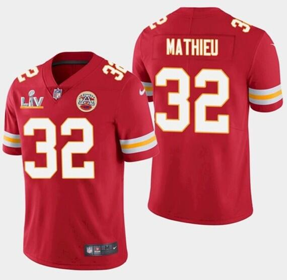 Nike Chiefs 32 Tyrann Mathieu Red 2021 Super Bowl LV Vapor Untouchable Limited Jersey