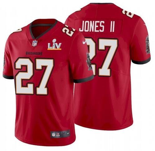 Nike Buccaneers 27 Ronald Jones II Red 2021 Super Bowl LV Vapor Untouchable Limited Jersey
