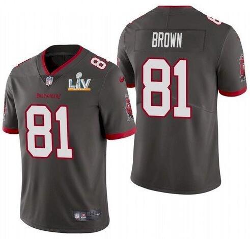 Nike Buccaneers 81 Antonio Brown Gray 2021 Super Bowl LV Vapor Untouchable Limited Jersey