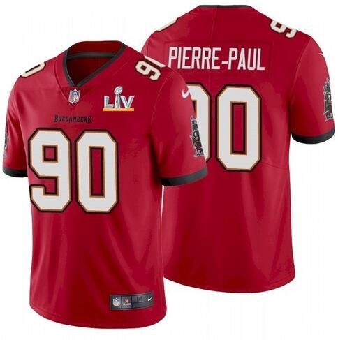 Nike Buccaneers 90 Jason Pierre-Paul Red 2021 Super Bowl LV Vapor Untouchable Limited Jersey