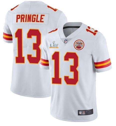Nike Chiefs 13 Byron Pringle White 2021 Super Bowl LV Vapor Untouchable Limited Jersey