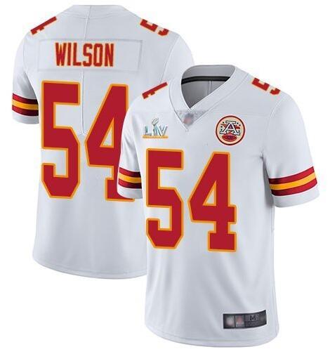 Nike Chiefs 54 Damien Wilson White 2021 Super Bowl LV Vapor Untouchable Limited Jersey