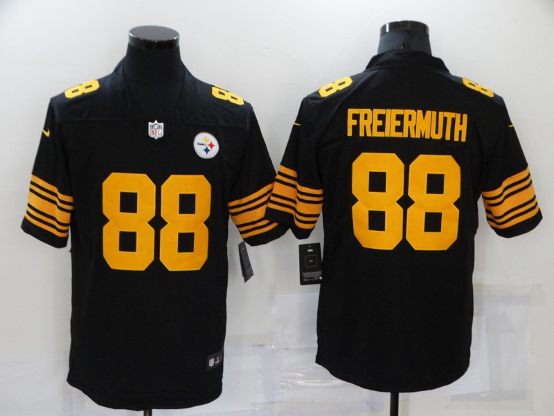 Nike Steelers 88 Pat Freiermuth Black Color Rush Limited Jersey