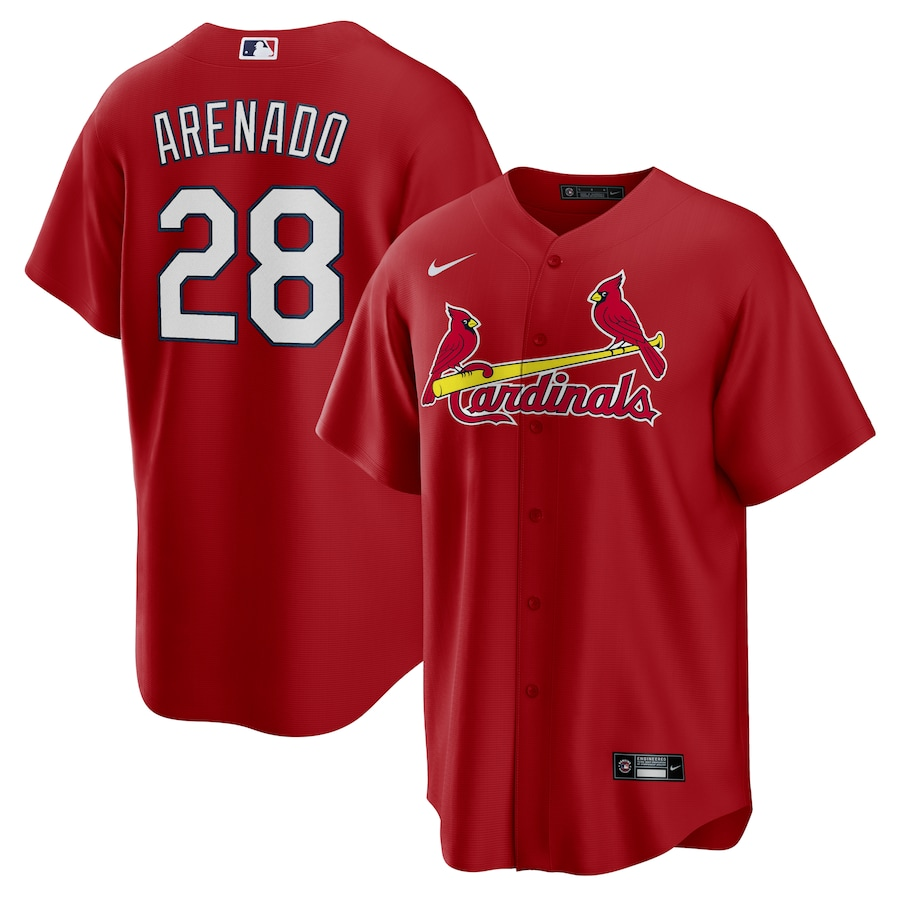 Cardinals 28 Nolan Arenado Red Nike Cool Base Jersey