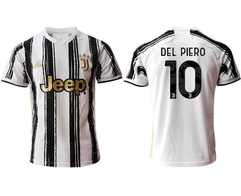 2020-21 Juventus 10 DEL PIERO Home Thailand Soccer Jersey