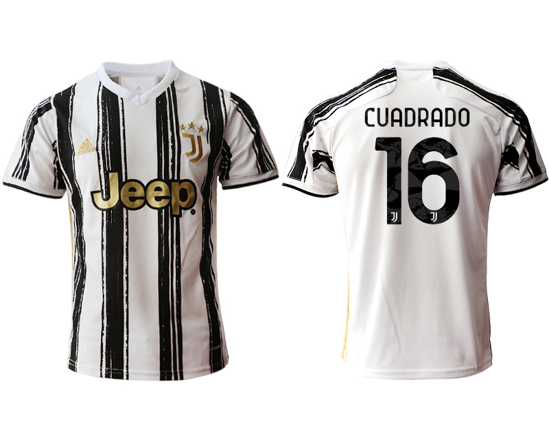 2020-21 Juventus 16 CUADRADO Home Thailand Soccer Jersey