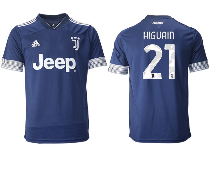 2020-21 Juventus 21 HIGUAIN Away Thailand Soccer Jersey