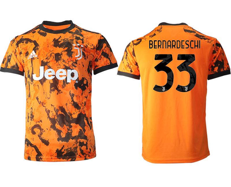2020-21 Juventus 33 BERNARDESCHI Third Thailand Soccer Jersey