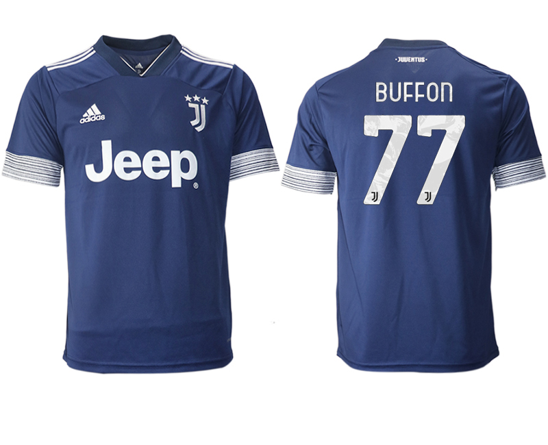 2020-21 Juventus 77 BUFFON Away Thailand Soccer Jersey