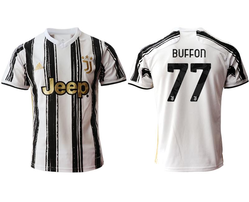 2020-21 Juventus 77 BUFFON Home Thailand Soccer Jersey