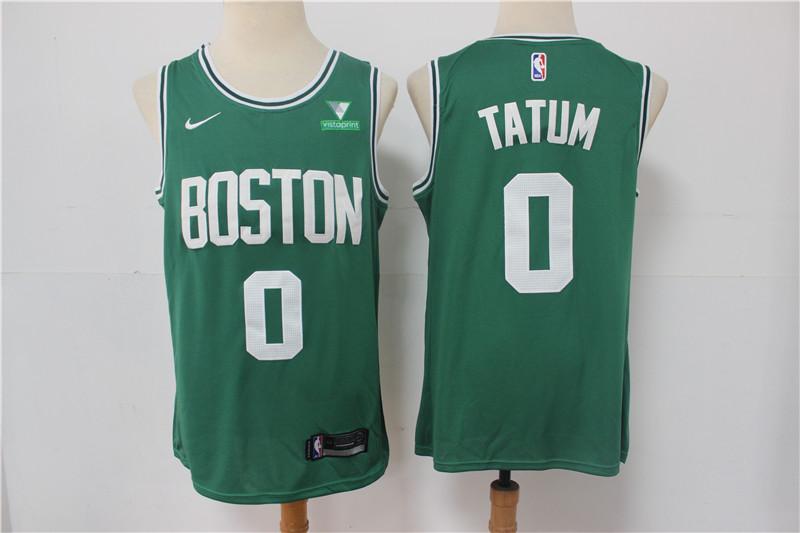 Celtics 0 Jayson Tatum Green Nike Swingman Jersey