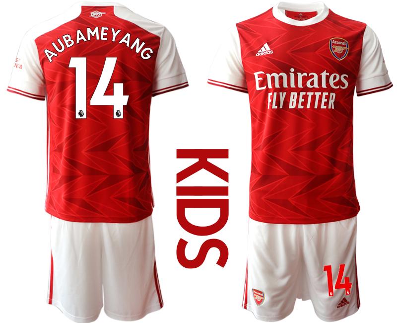 2020-21 Arsenal 14 AUBAMEYANG Youth Home Soccer Jersey