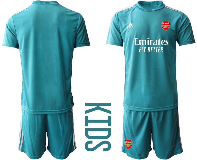 2020-21 Arsenal Blue Youth Goalkeeper Soccer Jersey