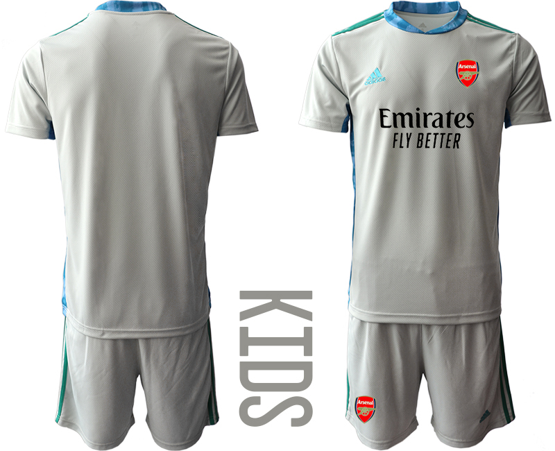 2020-21 Arsenal Gray Youth Goalkeeper Soccer Jersey