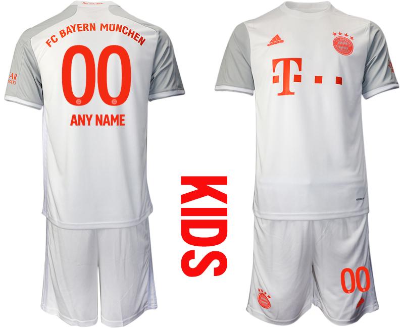 2020-21 Bayern Munich Customized Youth Away Soccer Jersey