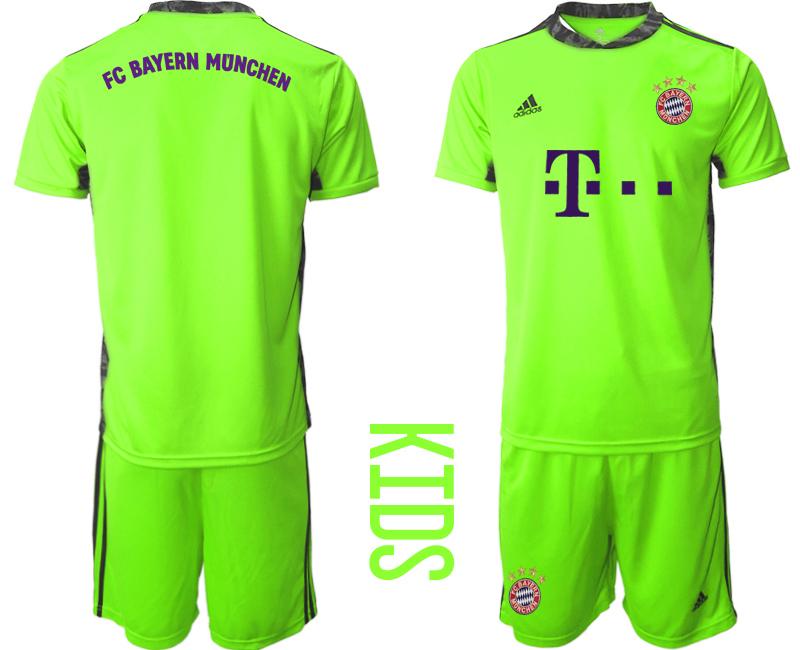 2020-21 Bayern Munich Fluorescent Green Youth Goalkeeper Soccer Jersey