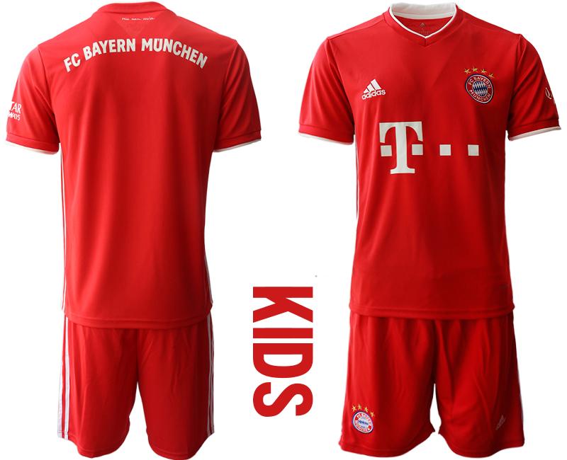 2020-21 Bayern Munich Youth Home Soccer Jersey