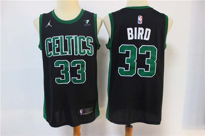 Celtics 33 Larry Bird Black 2021 Swingman Jersey