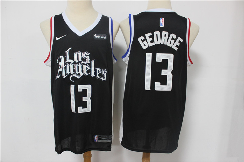 Clippers 13 Paul George Black 2021 City Edition Nike Swingman Jersey