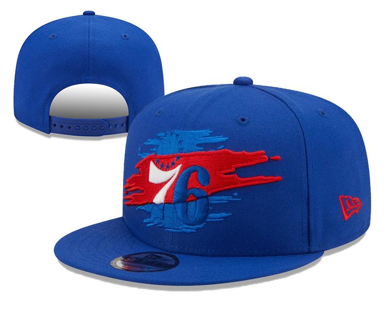 76ers Team Logo Tear Blue New Era Adjustable Hat YD