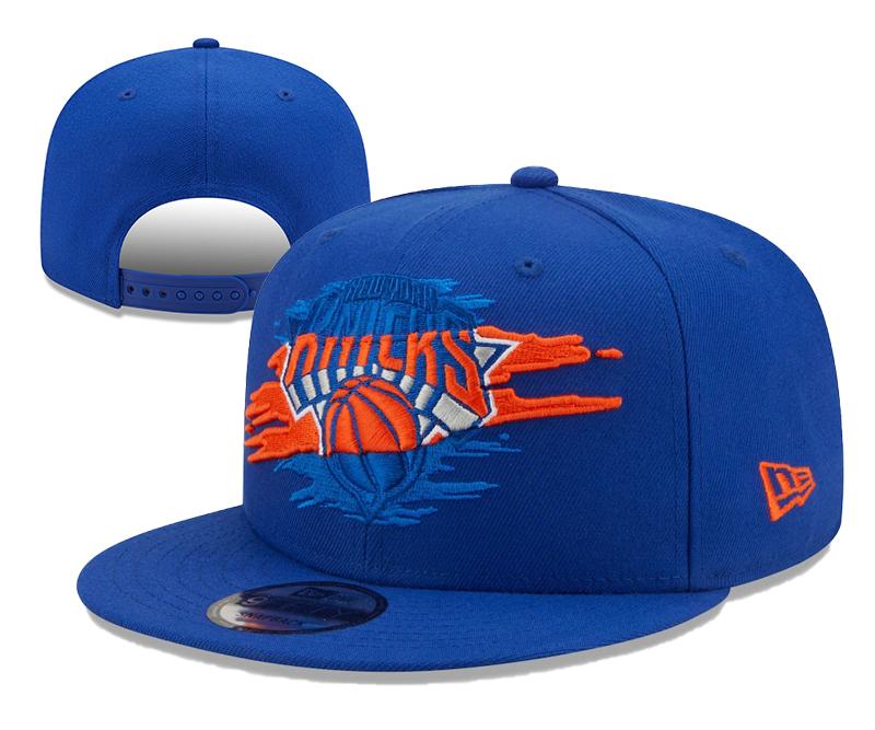 Knicks Team Logo Tear Blue New Era Adjustable Hat YD