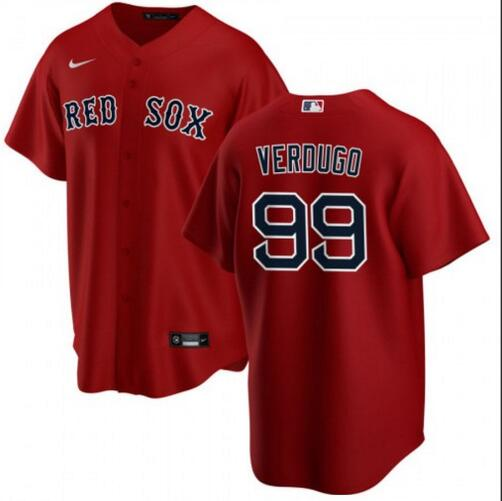 Red Sox 99 Alex Verdugo Red Cool Base Jersey