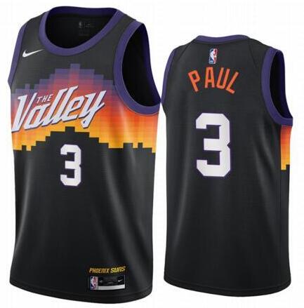 Suns 3 Chris Paul Black 2020-21 City Edition Swingman Jersey