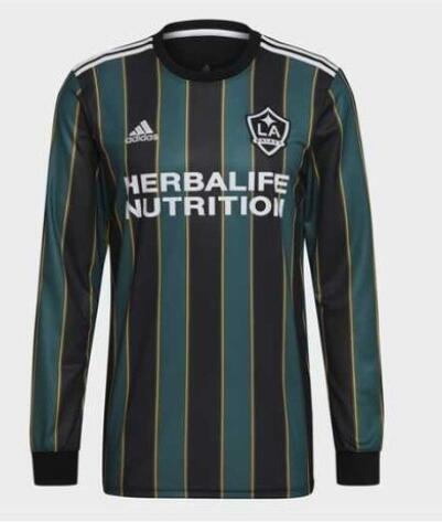 Adidas Los Angeles FC 2021 Home Long Sleeve T-Shirt Green Black
