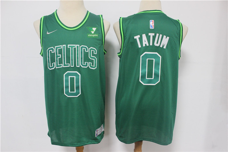 Celtics 0 Jayson Tatum Green 2021 Earned Edition Swingman Jersey