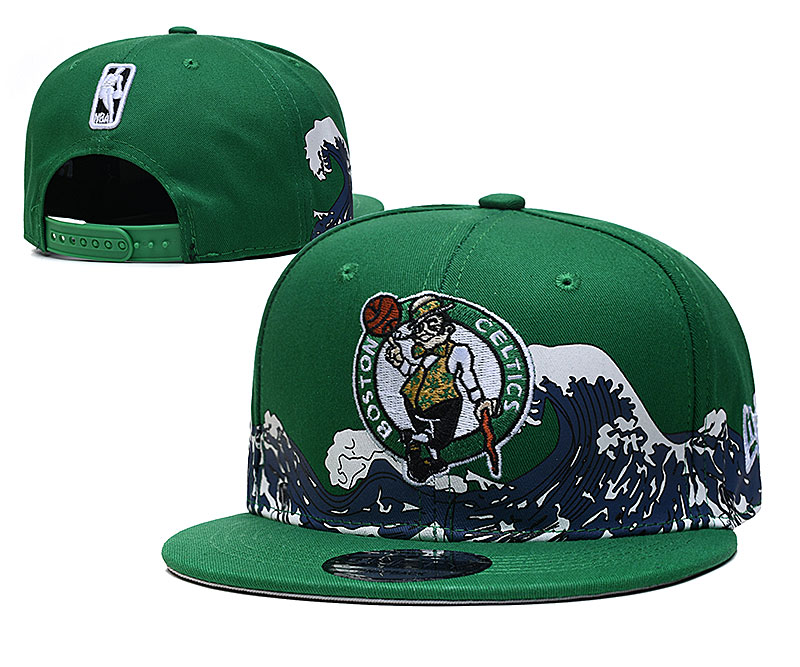 Celtics Team Logo New Era Green Adjustable Hat YD