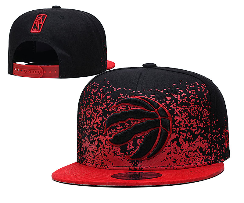Raptors Team Logo New Era Black Red Fade Up Adjustable Hat YD