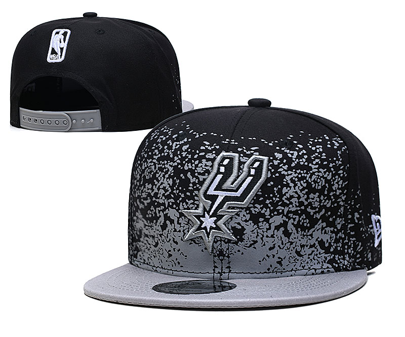 Spurs Team Logo New Era Black Gray Fade Up Adjustable Hat YD