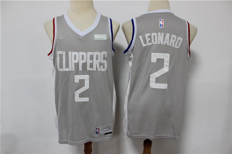 Clippers 2 Kawhi Leonard Gray 2021 Earned Edition Nike Swingman Jersey