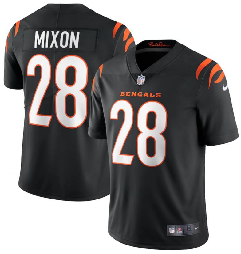 Nike Bengals 28 Joe Mixon Black Vapor Limited Jersey
