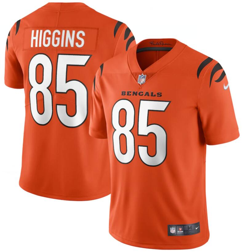 Nike Bengals 85 Tee Higgins Orange Vapor Limited Jersey