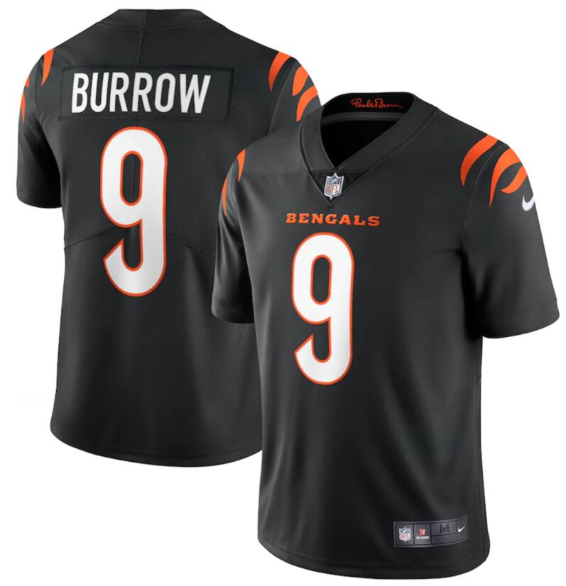 Nike Bengals 9 Joe Burrow Black Vapor Limited Jersey