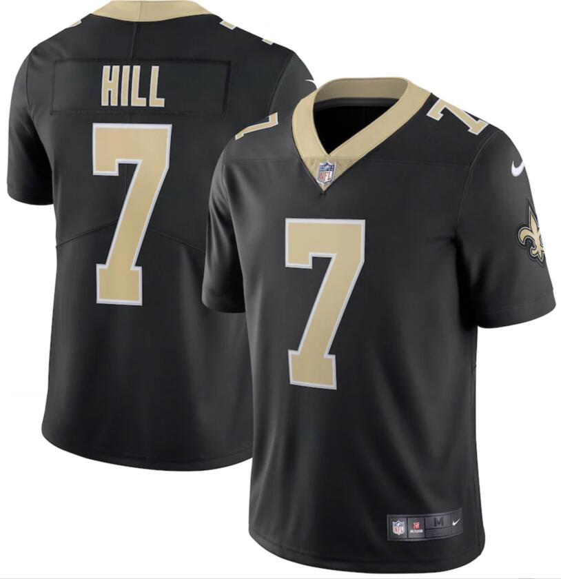 Nike Saints 7 Taysom Hill Black Vapor Limited Jersey