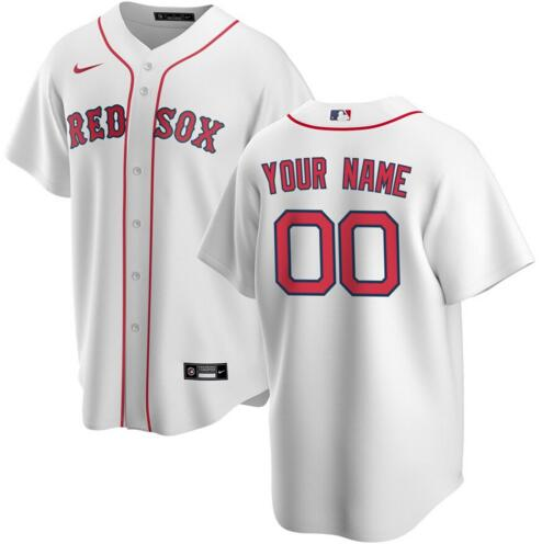 Red Sox Men's Customized White Cool Base Jersey