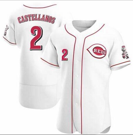 Reds 2 Nicholas Castellanos White Flexbase Jersey