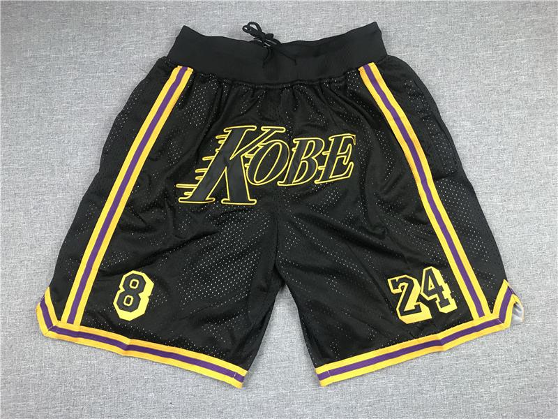 Lakers Teams Black 8 & 24 Kobe Just Don With Pocket Swingman Shorts
