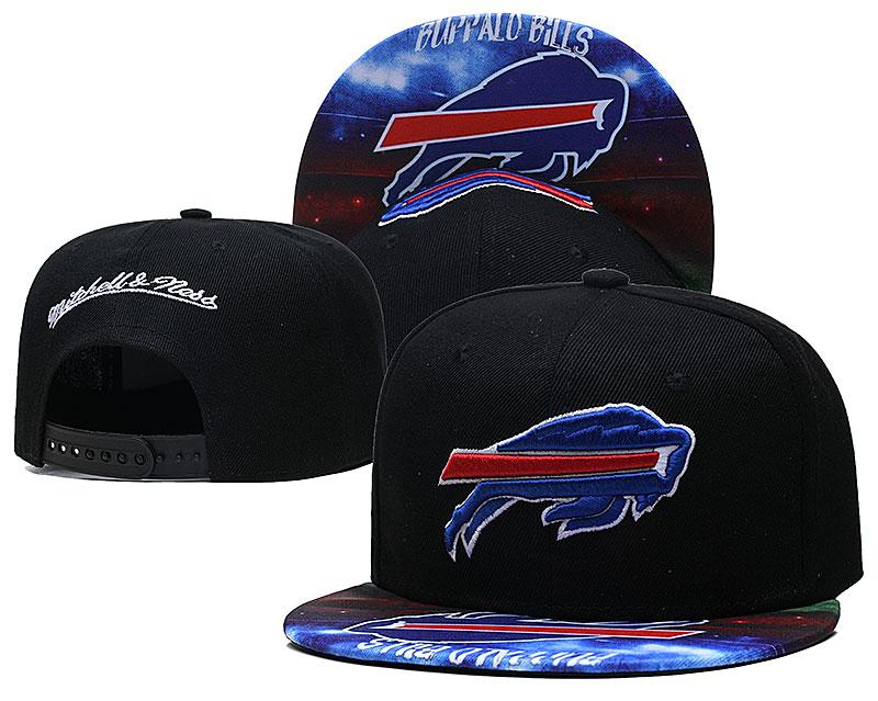 Bills Team Logo Black Mitchell & Ness Adjustable Hat LH
