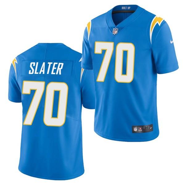 Nike Chargers 70 Rashawn Slater Blue 2021 Draft Vapor Limited Jersey