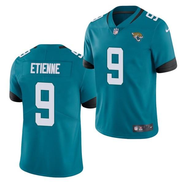 Nike Jaguars 9 Travis Etienne Teal 2021 Draft Vapor Limited Jersey