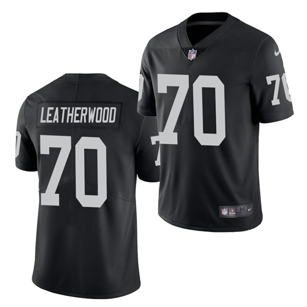 Nike Raiders 70 Alex Leatherwood Black 2021 Draft Vapor Limited Jersey