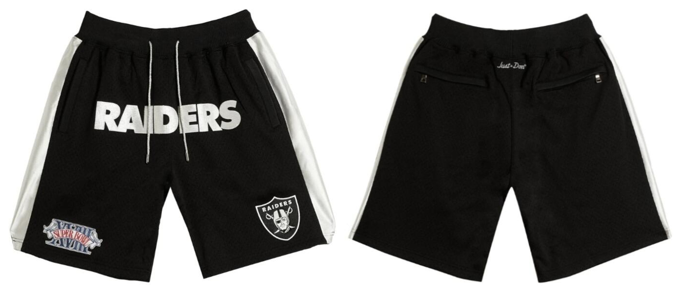 Men's Las Vegas Raiders Black Just Don With Pocket Shorts