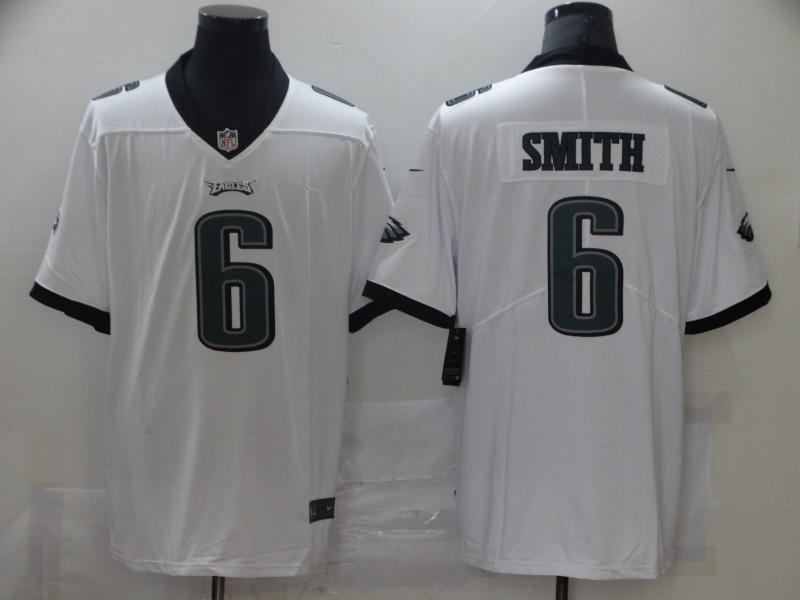 Nike Eagles 6 DeVonta Smith White 2021 Draft Vapor Limited Jersey
