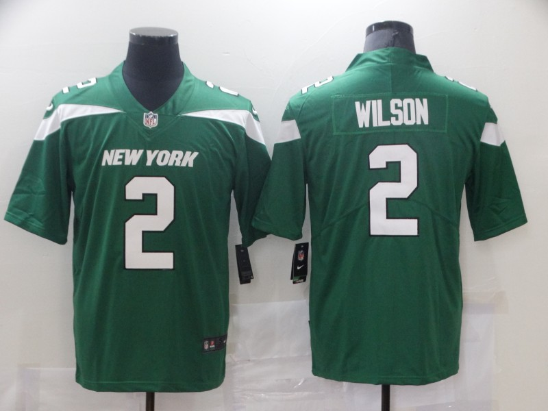 Nike Jets 2 Zach Wilson Green 2021 NFL Draft Vapor Untouchable Limited Jersey
