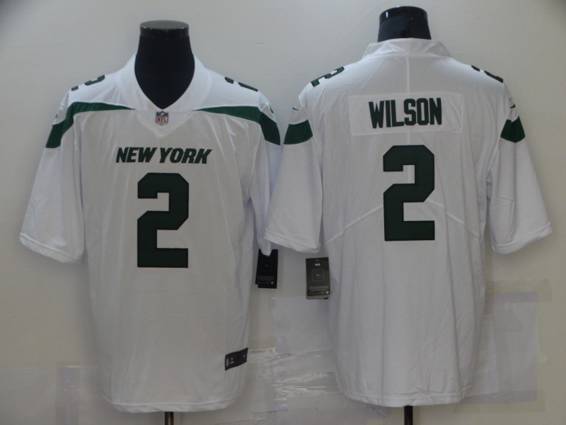 Nike Jets 2 Zach Wilson White 2021 NFL Draft Vapor Untouchable Limited Jersey